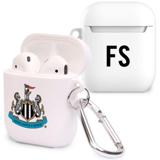 Personalised Newcastle United FC Initials Airpod Case.