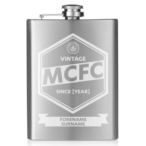 Manchester City FC Vintage Hip Flask