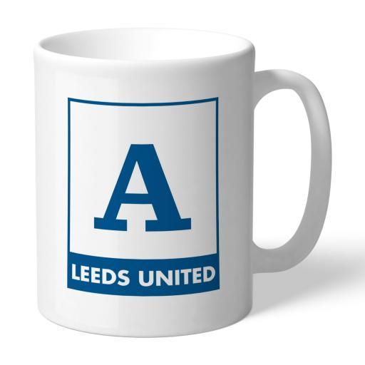 Personalised Leeds United FC Monogram Mug.