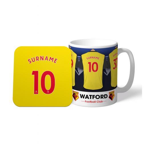 Watford FC Dressing Room Mug & Coaster Set