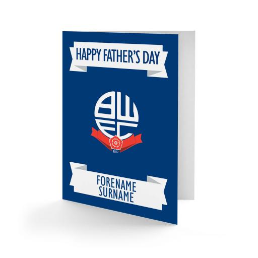 Bolton Wanderers FC Crest Father's Day Card