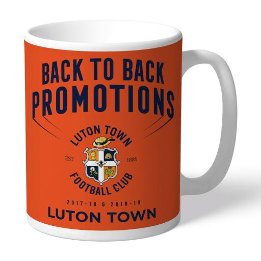 Luton Town FC Back to Back Promotions Mug