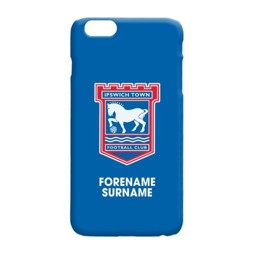 Ipswich Town FC Bold Crest Hard Back Phone Case