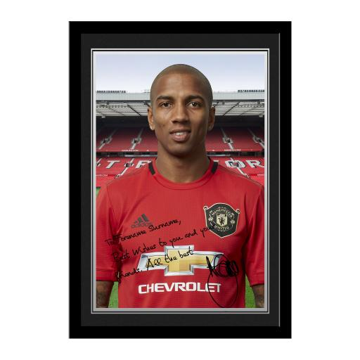 Personalised Manchester United FC Young Autograph Photo Framed.