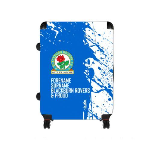 Personalised Blackburn Rovers Proud Large Suitcase.
