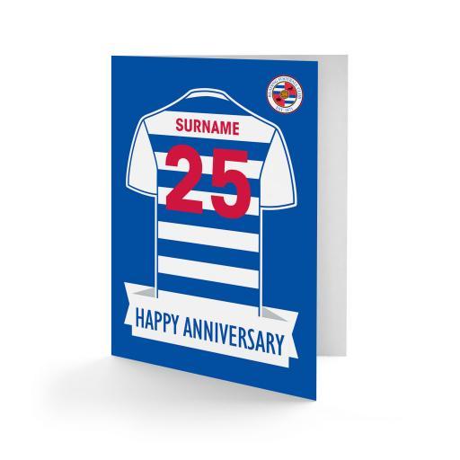 Personalised Reading FC Shirt Anniversary Card.