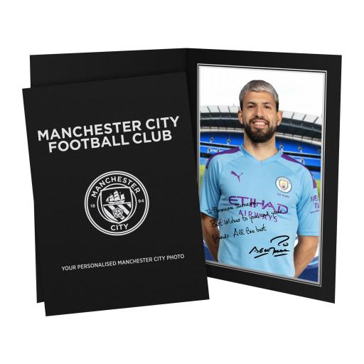 Manchester City FC Aguero Autograph Photo Folder