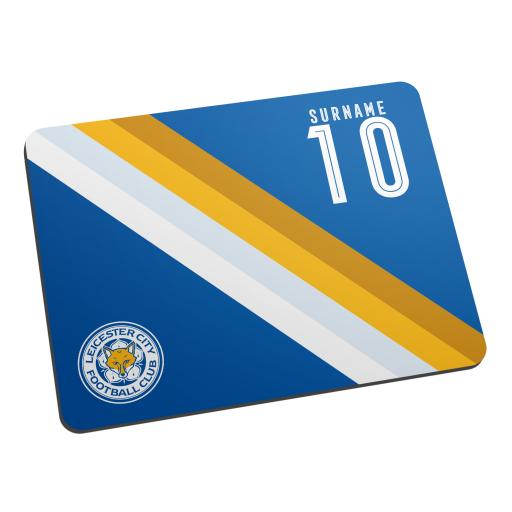 Personalised Leicester City FC Stripe Mouse Mat.