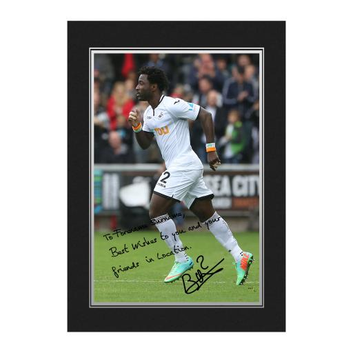 Swansea City AFC Bony Autograph Photo Folder