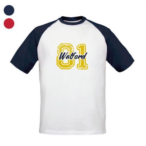 Watford FC Varsity Number Baseball T-Shirt