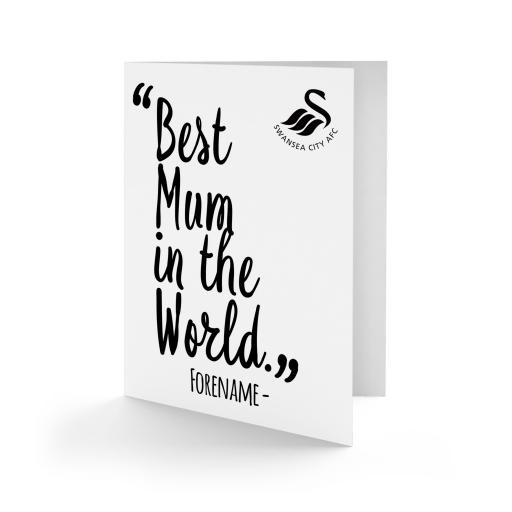 Swansea City AFC Best Mum In The World Card