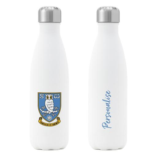 Sheffield Wednesday FC Crest Insulated Water Bottle - White