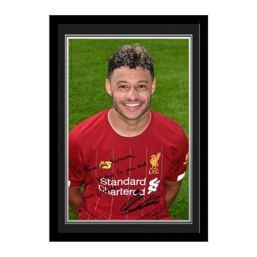 Liverpool FC Oxlade-Chamberlain Autograph Photo Framed