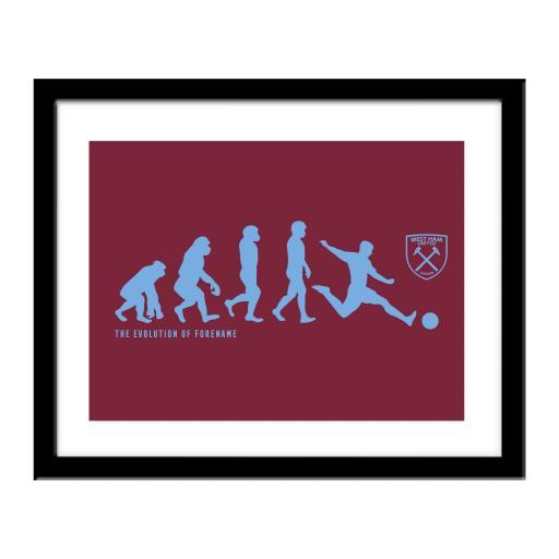 West Ham United FC Evolution Print