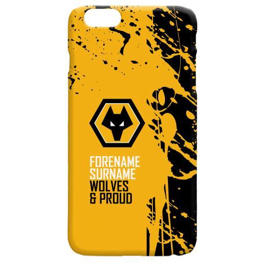 Personalised Wolves Proud Hard Back Phone Case.
