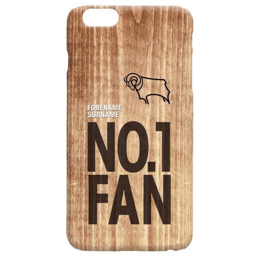 Derby County No 1 Fan Hard Back Phone Case