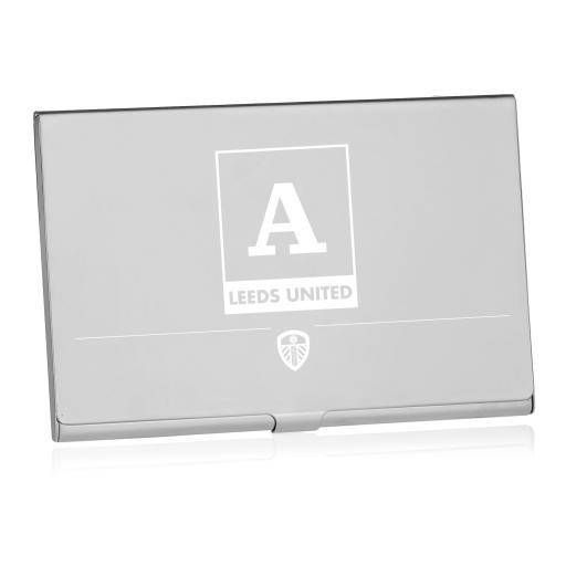 Personalised Leeds United FC Monogram Business Card Holder.