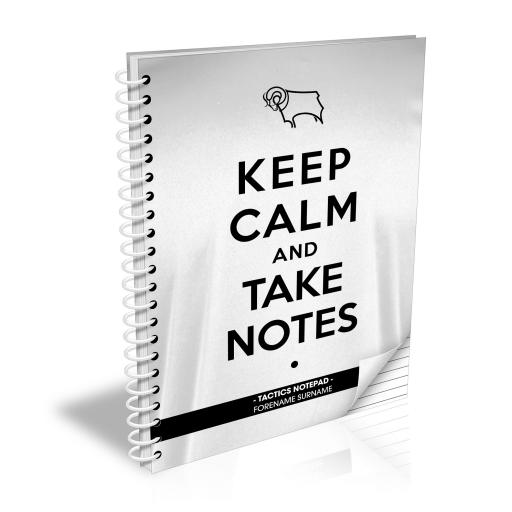 Derby County Keep Calm Notebook