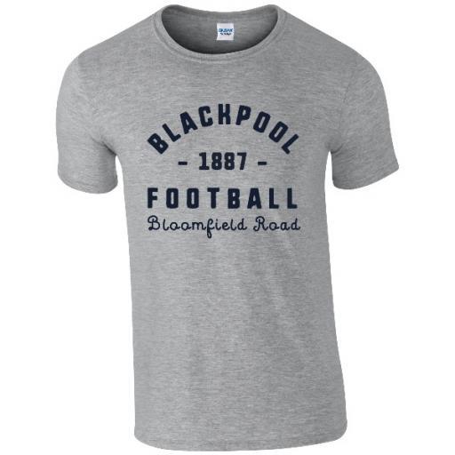 Personalised Blackpool FC Stadium Vintage T-Shirt.