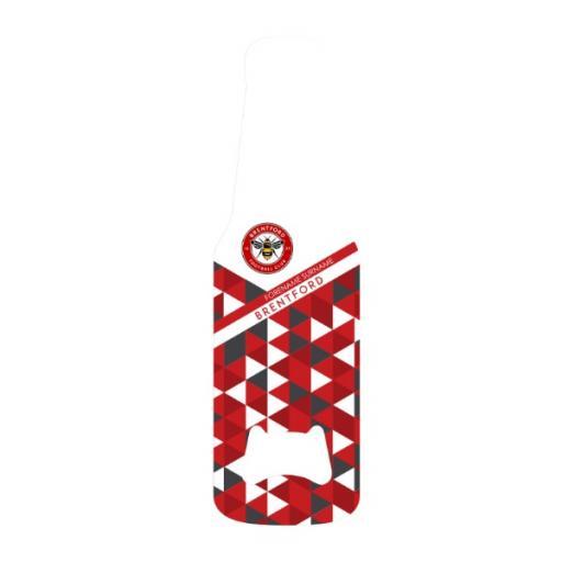Brentford FC Patterned Bottle Shaped Bottle Opener