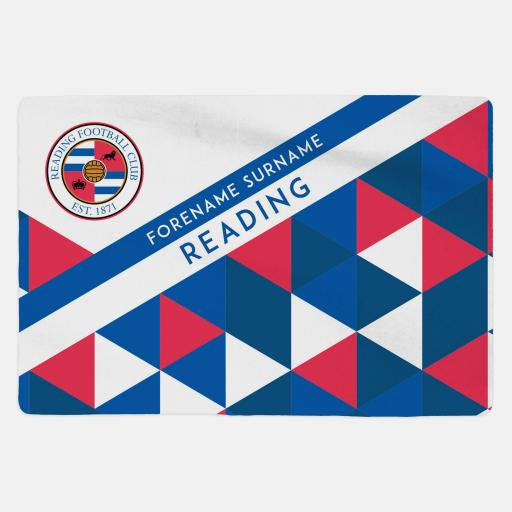 Reading FC - Geometric - Sherpa Fleece Blanket