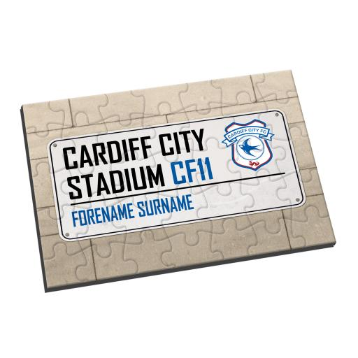 Cardiff City FC Street Sign Jigsaw