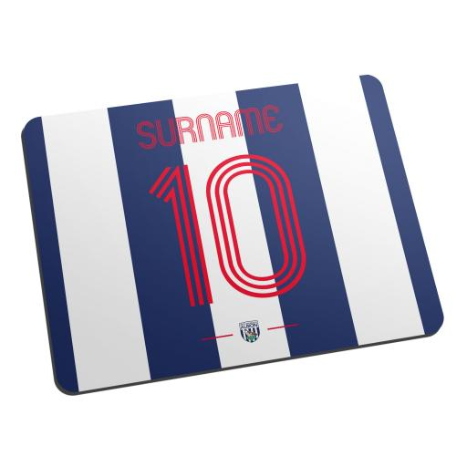 Personalised West Bromwich Albion FC Retro Shirt Mouse Mat.