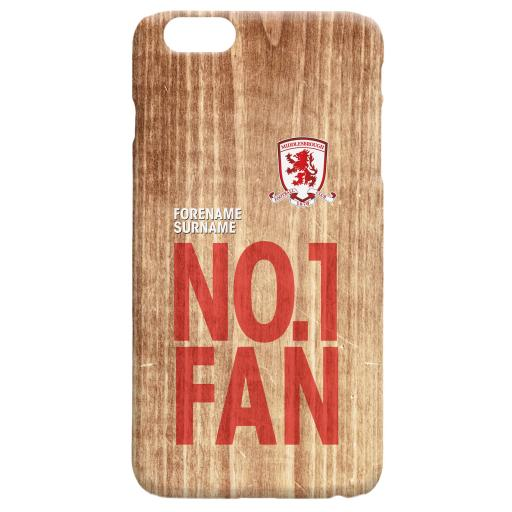 Middlesbrough FC No 1 Fan Hard Back Phone Case
