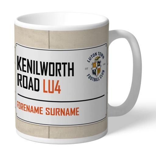 Luton Town FC Street Sign Mug