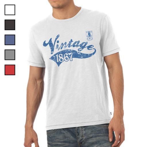 Sheffield Wednesday FC Mens Vintage T-Shirt