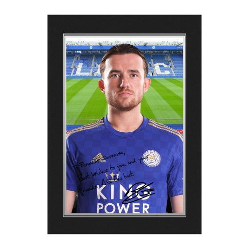 Personalised Leicester City FC Chilwell Autograph Photo Folder.