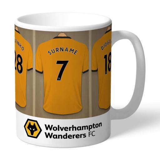 Personalised Wolves Dressing Room Mug.