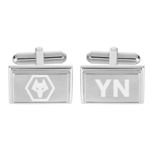 Personalised Wolves Crest Cufflinks.