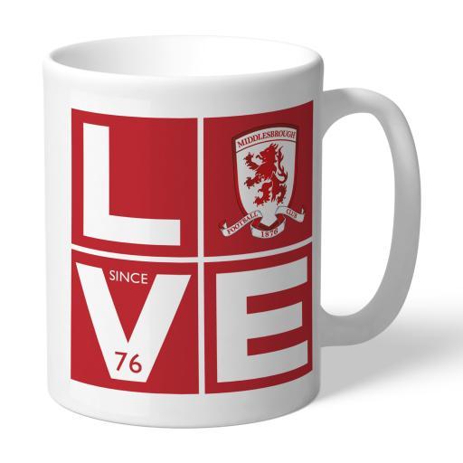 Personalised Middlesbrough Love Mug.