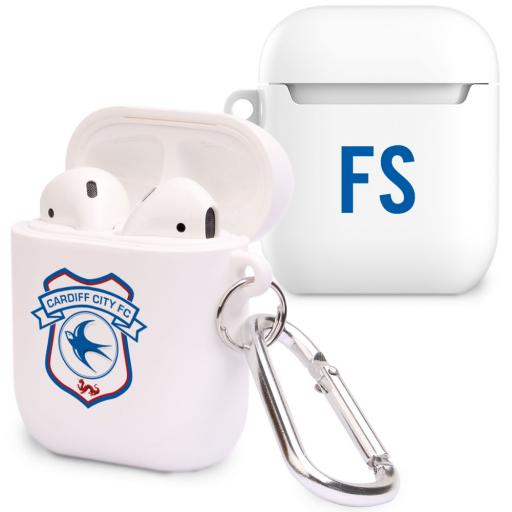 Personalised Cardiff City FC Initials Airpod Case.