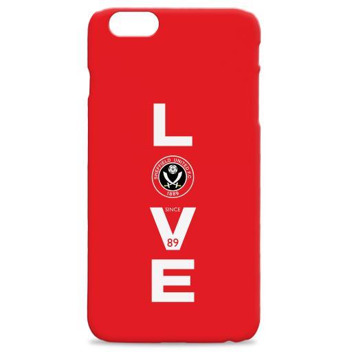 Personalised Sheffield United Love Hard Back Phone Case.