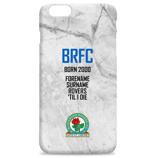 Personalised Blackburn Rovers FC 'Til I Die Hard Back Phone Case.