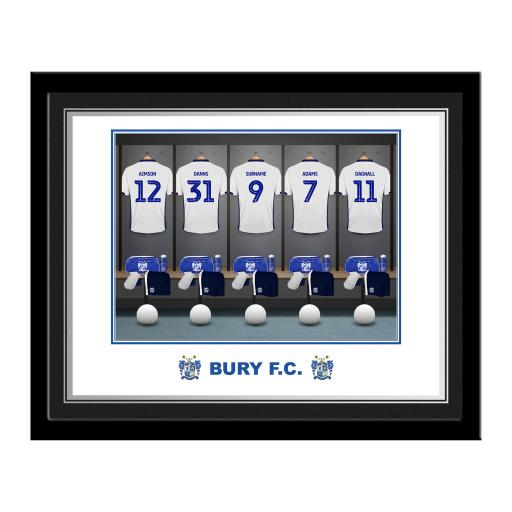 Bury FC Dressing Room Photo Framed