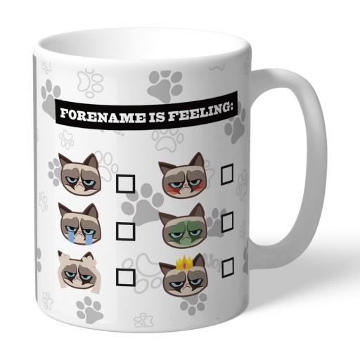 Grumpy Cat Emoji - Feeling Mug Grey