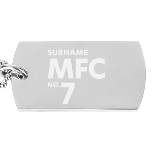 Millwall FC Number Dog Tag Pendant