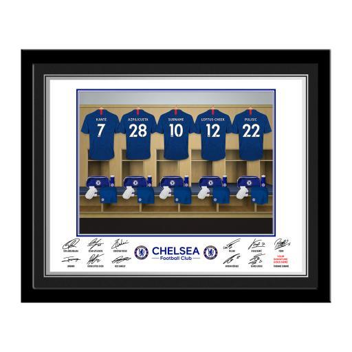 Chelsea FC Dressing Room Photo Framed