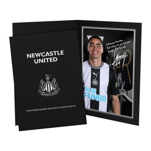 Personalised Newcastle United FC Almiron Autograph Photo Folder.