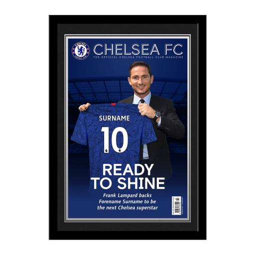 Chelsea FC Magazine Front Cover Photo Framed