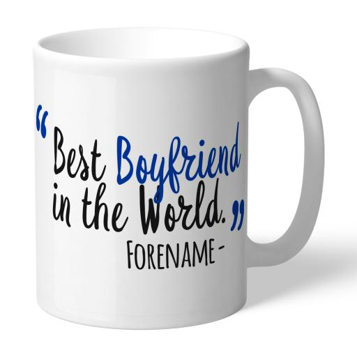 Personalised Brighton and Hove Albion Best Boyfriend In The World Mug.