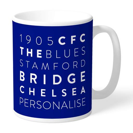 Chelsea FC Word Collage Mug