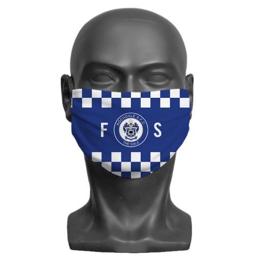 Rochdale AFC Initials Adult Face Mask (Medium)