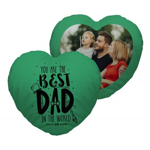 Best Dad - Photo - Heart Cushion