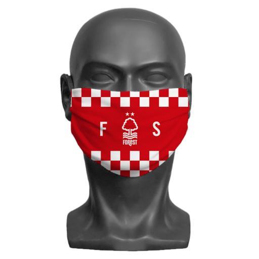 Nottingham Forest FC Initials Adult Face Mask (Medium)