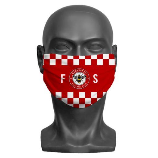 Brentford FC Initials Adult Face Mask (Medium)