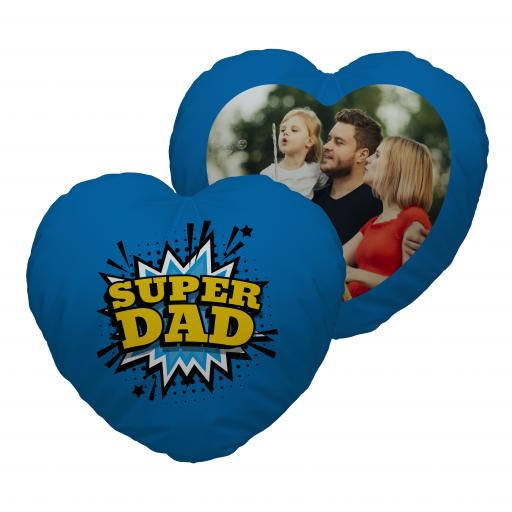 Super Dad - Photo - Heart Cushion